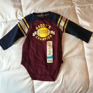 Jumping beans bodysuit Football Daddy's champion